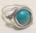 Nested Turquoise Marble Ring