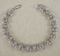 Sterling Silver Orbit Chain Maille Bracelet B42811