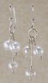 Tri-dangle Freshwater Pearl Earrings