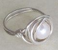 Medium Nested Pearl Ring
