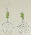 Sterling Silver Swirl Earrings with Peridot