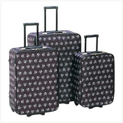 Stylish Skull Luggage Trio