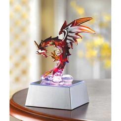Spun Glass Light-Up Dragon