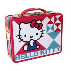 HELLO KITTY BLUE AND PINK EMBOSSED CARRY