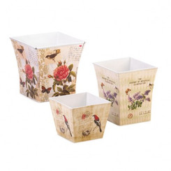 BOTANICAL GARDEN PLANTER TRIO SET