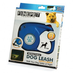 BLUE RETRACTABLE PET LEASH