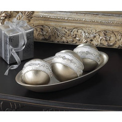 SILVERY DECORATIVE BALL SET