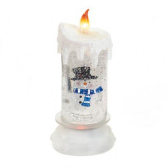 SNOWMAN SNOWGLOBLE FLAMELESS CANDLE