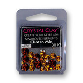 Brown SWAROVSKI ELEMENTS Chaton Mix
