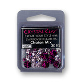 Purple SWAROVSKI ELEMENTS Chaton Mix