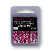 Pink SWAROVSKI ELEMENTS Chaton Mix