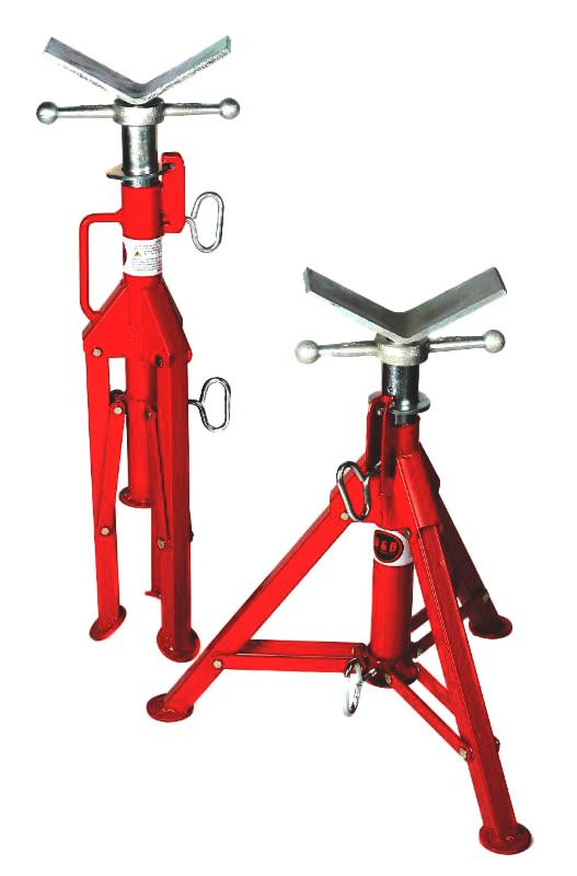 Pipe Jack Stands >> B B 3900 Folding Pipe Jack V Head 32 48 H 2500 Lb