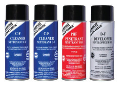 Nuclear Grade Kits contain: 2 cans Cleaner - 1 can Developer - 1 can Penetrant.