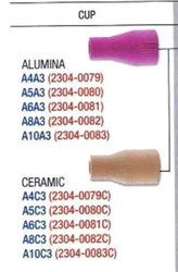 Select Alumina (pink) or ceramic