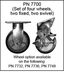 Set of 4 - 2 Swivel / 2 Fixed