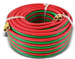 "HTDT316100BB Welding Hose Grade R 3/16"" x 100' BB Fittings"
