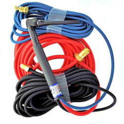 CK TL18-25SF FX Water Cooled Trim-Line Flex Head TIG Torch 350A 25', 3-Pc Super-Flex