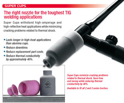 "CK Super Cups for 9 and 20 Style Tig Torches 10 Pack ""Free Shipping"""