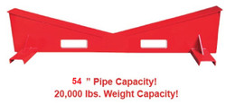 "BB 3817 MEGA V Block 2""- 54"" Pipe 20,000 lb. Cap."