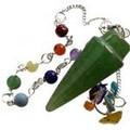 Green Aventurine 7 Chakra Pendulum