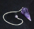 Faceted Pendulum Black India Amethyst