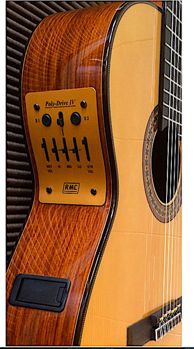 RMC Poly-Drive IV mounted on acoustic guitar