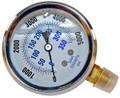 S.S. PRESSURE GAUGE 5000 PSI 1/4MPT