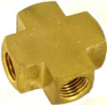 "BRASS CROSS 1/2"" FPT (BAR STOCK)"