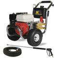 BE PE-2565HWSCOM Professional 2700 PSI (Gas-Cold Water) Pressure Washer w/ Honda GX Engine & Stainless Steel Frame