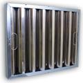 15.5 x 17.5 x 1.88  Kleen Gard Baffle Filter – Aluminum with J Hooks
