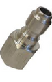 "FOSTER QC PLUG 1/4"" FPT STAINLESS STEEL"