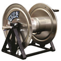 "Steel Eagle - 22"" Soft Wash Hose Reel, 1/2"" Plumbing (304 Stainless Steel)"