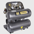 BE - 4 Gallon Twin Tank Oil-Free Compressor, 1hp, 120v/60hz, 125psi