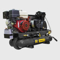 BE -  8 Gallon Wheeled Gas Compressor/Generator, 389CC, Elec Start, 16CFM@175PSI, 3500W
