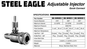 06-161501-1 Adjustable Downstream Injectors w/Quick