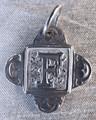 Rustic Monogram F Pendant