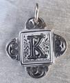 Rustic Monogram K Pendant