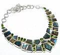 Labradorite & Peridot Necklace 001