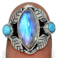 Moonstone & Turquoise Ring 003
