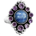 Kyanite & Amethyst Ring 001