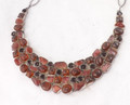 Sunstone, Amber, & Smokey Quartz Necklace 001