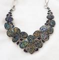Titanium Druzy & Mystic Topaz Necklace 001