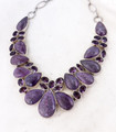 Charoite & Amethyst Necklace 001