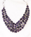 Rough Amethyst Necklace 001