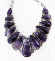 Chevron Amethyst Necklace 001