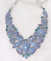 Chalcedony & Swiss Topaz Necklace 001