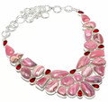 Rhodochrosite & Garnet Necklace 001