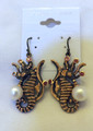 Sculptural Pearl Seahorse Earrings