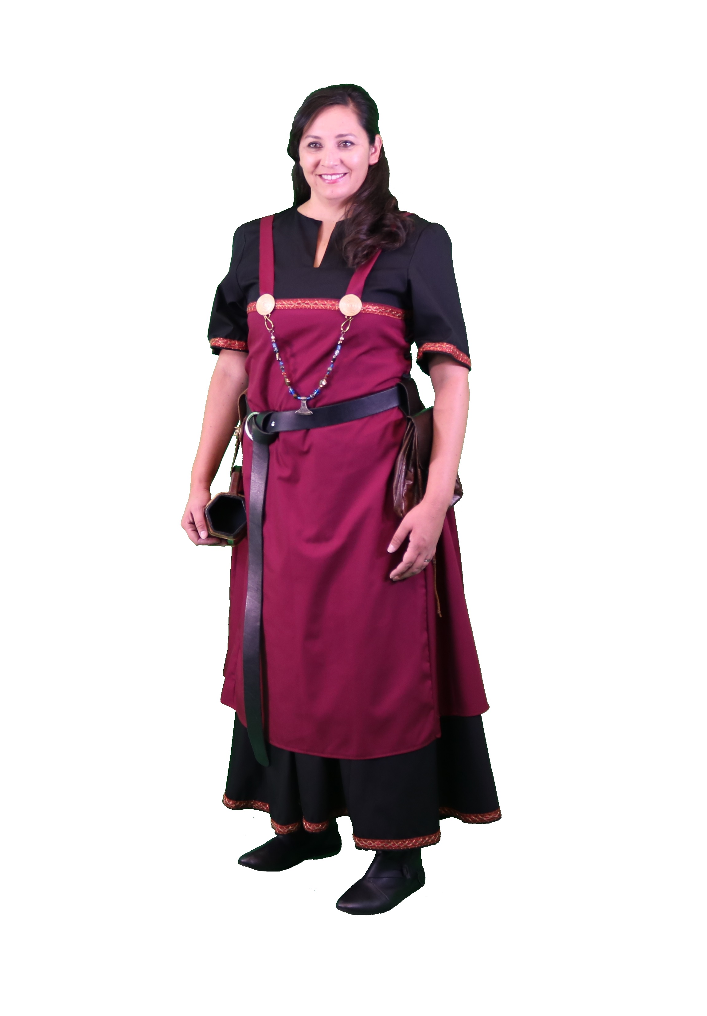 Viking Apron Dress with Trim