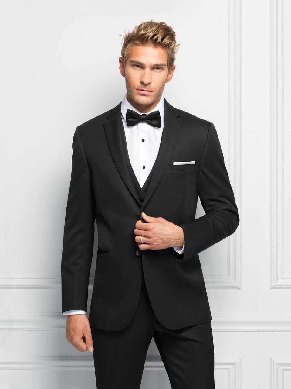 d137ab6b5986 Michael Kors Ultra Slim Fit Black Sterling Wedding Suit Style J 471. Image  1. Loading zoom